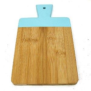 Tábua de Corte Bambu com Azul