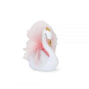 Cabeça Decorativa Cisne Rosa e Dourado
