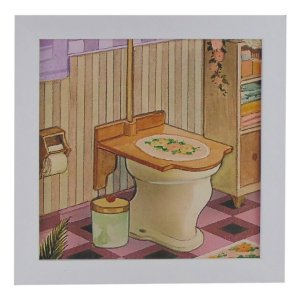 Quadrinho para Banheiro Vintage Toillete