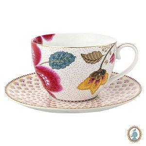 Xícara de Chá Floral Fantasy - Branca - PiP Studio