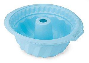 Forma De Bolo 25 cm Candy - Azul