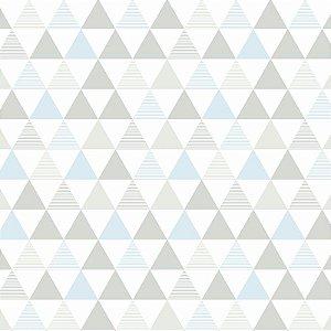 Papel de Parede Delta Azul e Cinza