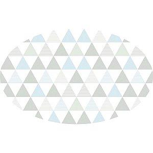 Tapete Playmat Delta Azul e Cinza Oval- T.Design