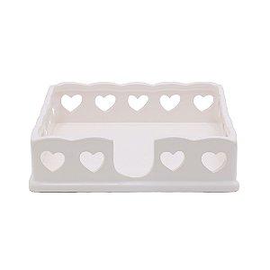 Porta Guardanapos de Porcelana Heart