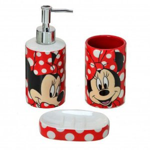 Kit para banheiro Minnie Dots