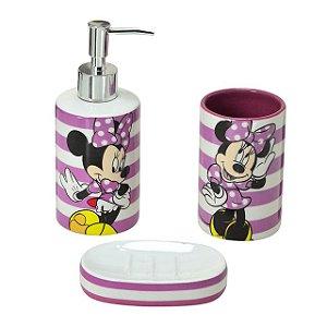 Kit para banheiro Minnie Pink