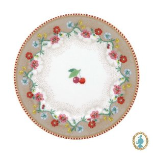 Prato de Pão Cherry Caqui – Floral – Pip Studio®
