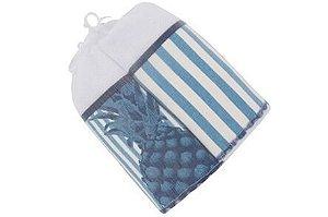 Pano de Copa com 2 peças - Abacaxi Azul