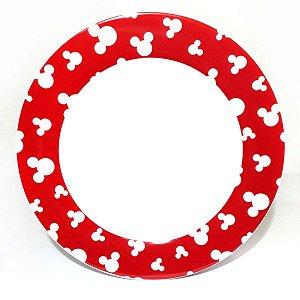 Prato Raso - Mickey Borda Vermelha