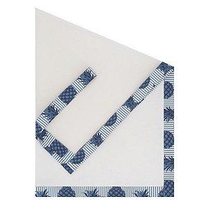 Cobre Mesa Filó Abacaxi Azul