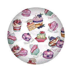 Prato de Sobremesa em Melamina - Cupcake