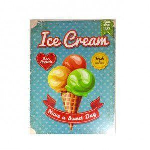 Quadro Ice Cream Colorido Grande