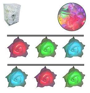 Cordão de Luz  Rosas Coloridas