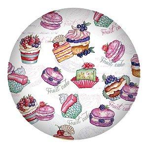 Prato de Jantar em Melamina - Cupcake