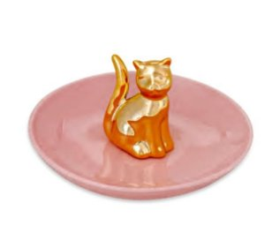 Mini Prato Decorativo Gatinho Rosa