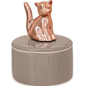 Potiche em Porcelana Gato Rose Gold