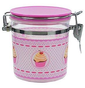 Pote Hermético Cupcake Rosa