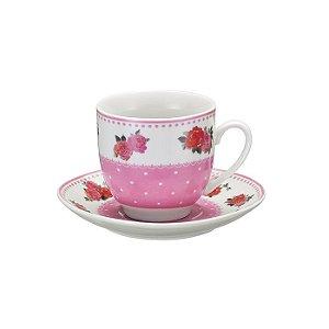 Jogo de 4 Xícaras para Chá - Flores