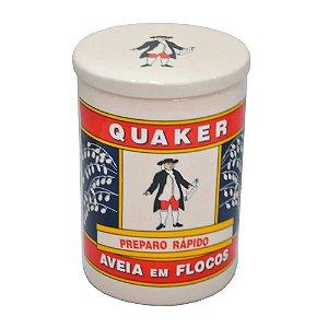 Pote em Cerâmica - Aveia Quaker Grande