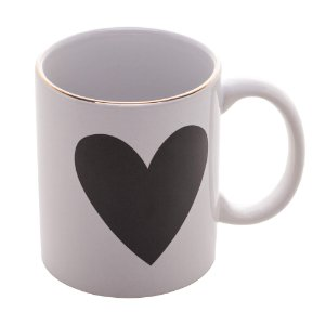 Caneca de Porcelana Color Big Heart