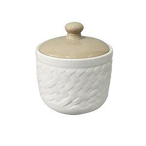 Potiche de Cerâmica Basket Bege