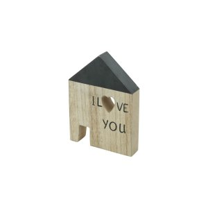 Casinha Decorativa Madeira House I Love You Pequena