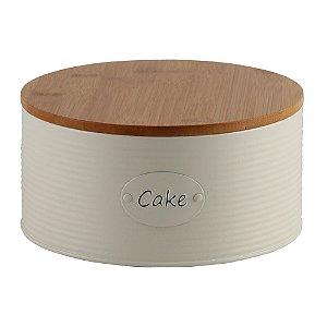 Porta Bolo e Biscoitos de Ferro Cake de Tampa de Madeira