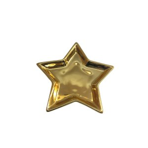 Porta Anéis Shine Estrela Dourado