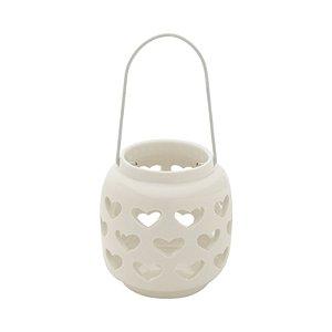 Castiçal Porcelana Heart Porcelana Vazado