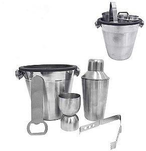 Kit Bar 5 Peças em Aço Inox - Primor