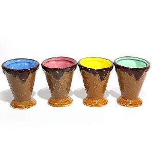 Casquinha de Sorvete de Cerâmica