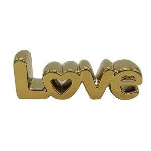 Palavra Love Dourada