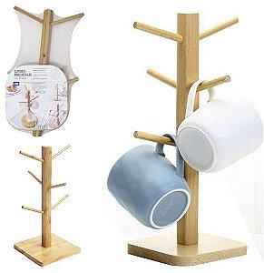 Suporte de Xícaras de Bambu