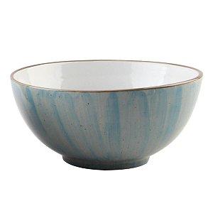 Bowl de Porcelana Azul Mescla Watercolor - Bom Gourmet
