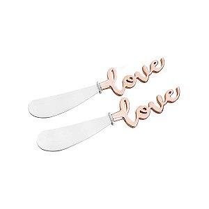 Conjunto de 2 Espátulas Zamac Love Rose Gold