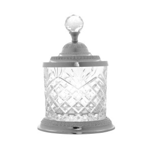 Pote Multiuso de Zamac Cristal Prata Médio - Lyor