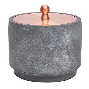 Pote de Cimento com Tampa Rose Gold Pequeno