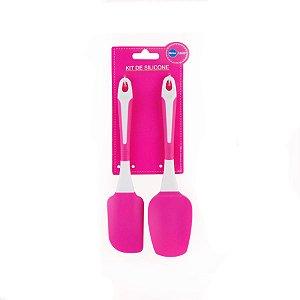 Kit 2 Espátulas Pink e Branca