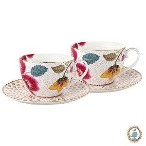 Set/2 Xícara De Chá Branco - Floral Fantasy - Pip Studio