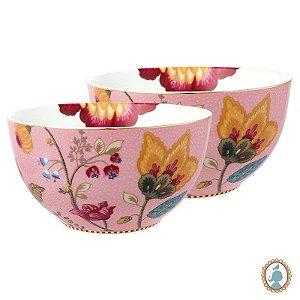 Set 2 Tigela 15 Rosa - Floral Fantasy - Pip Studio