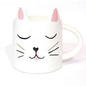 Caneca Gato Branco