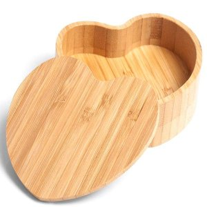Saleiro Bambu Formato Coração