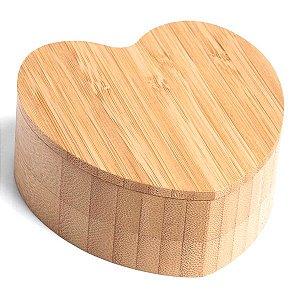 Pote Multiuso Bambu Formato Coração