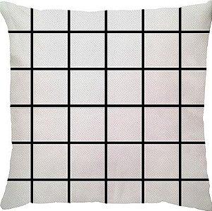 Capa de Almofada Grid Branca