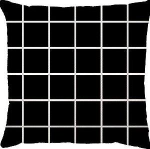 Capa de Almofada Grid Preta