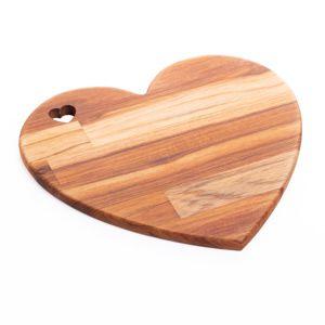 Tábua de Madeira Teca Coração