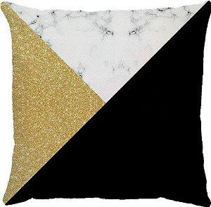 Capa de Almofada Marble Gold