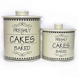 Conjunto de 02 Latas Cakes Creme