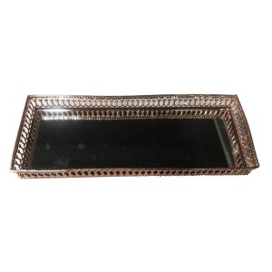 Bandeja de Metal Mirror Long Classic Cobre