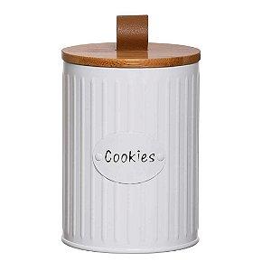 Latas Cookie com Tampa de Bambu